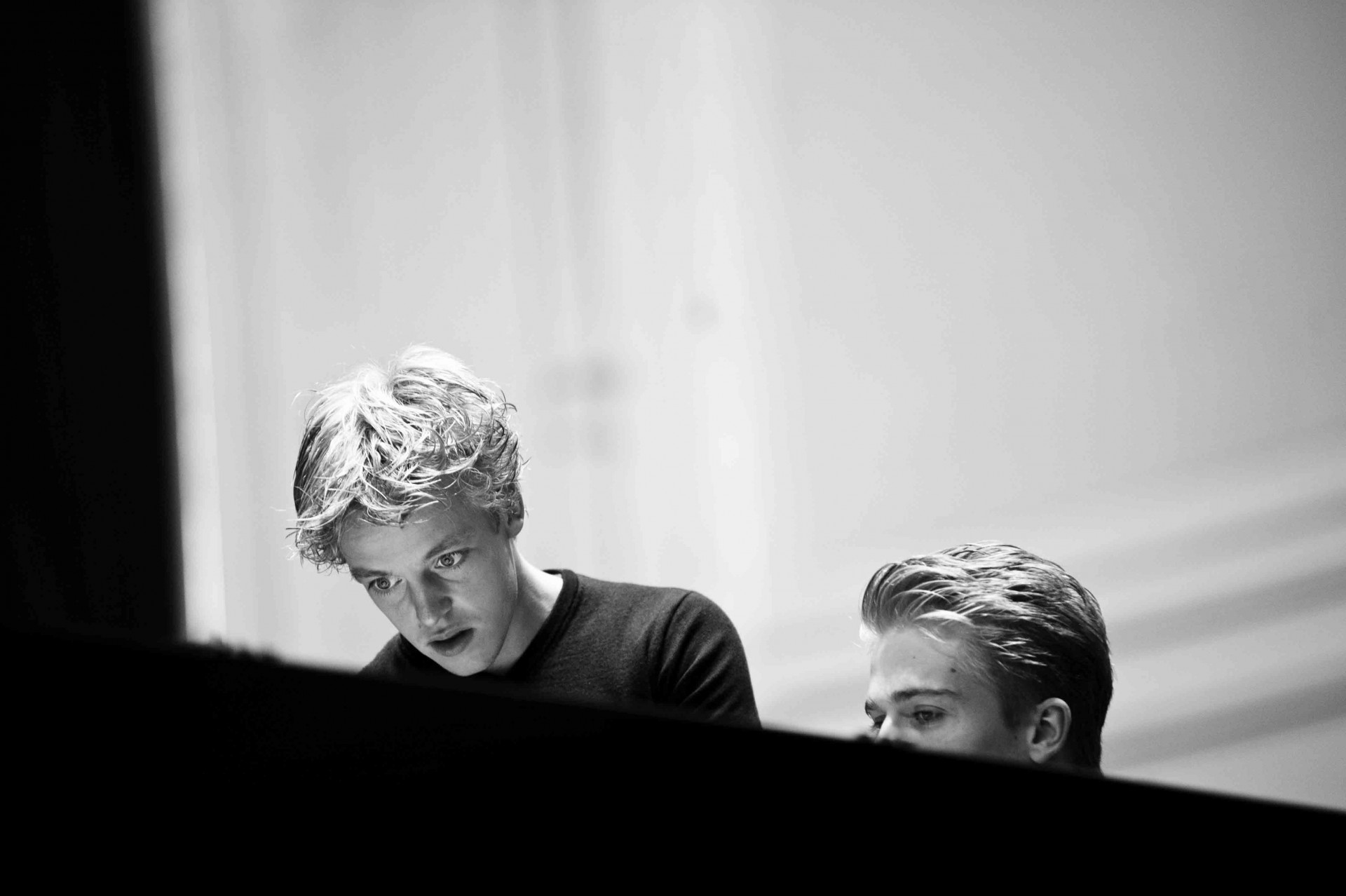 Lucas & Arthur Jussen recording with the Royal Concertgebouw Orchestra